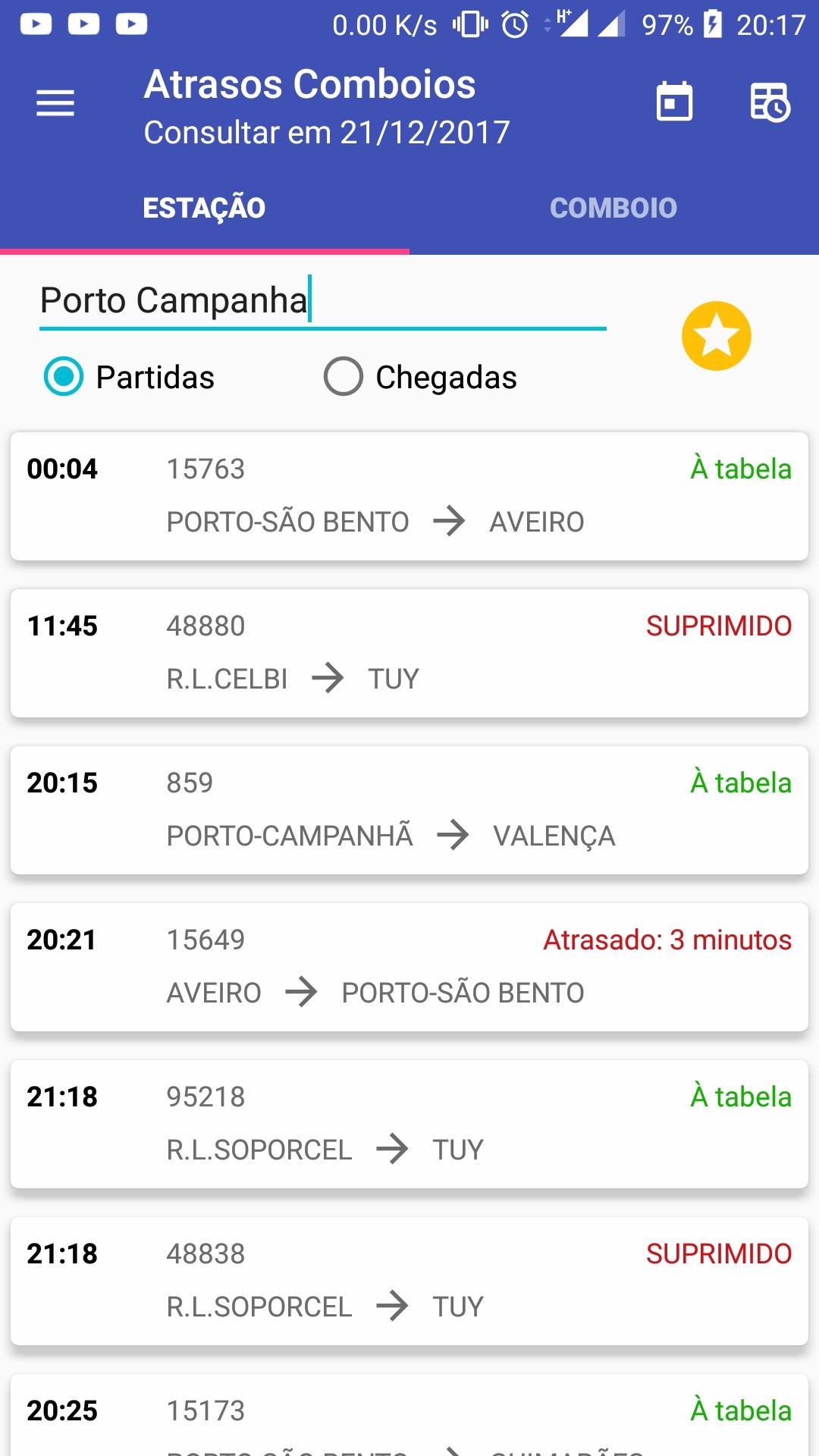 Atrasos Comboios