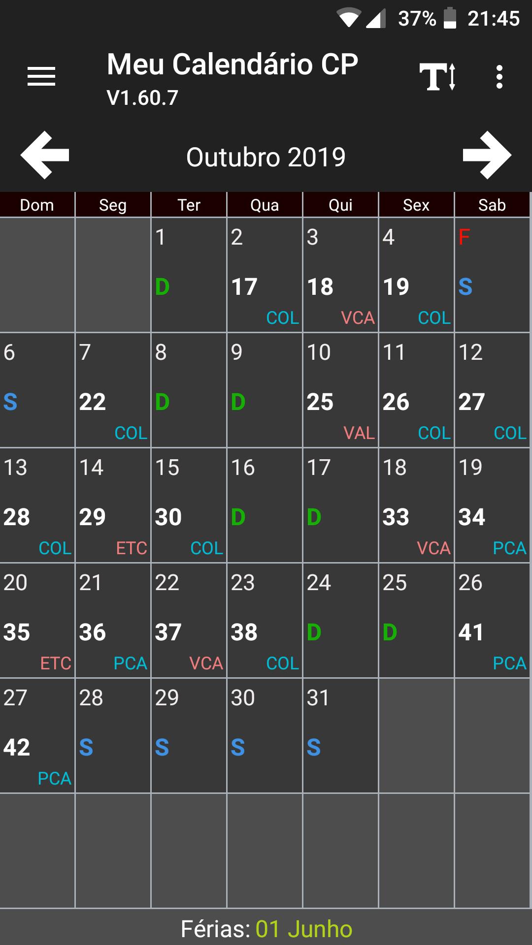 O Meu Calendário